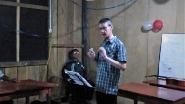 Neil preaching